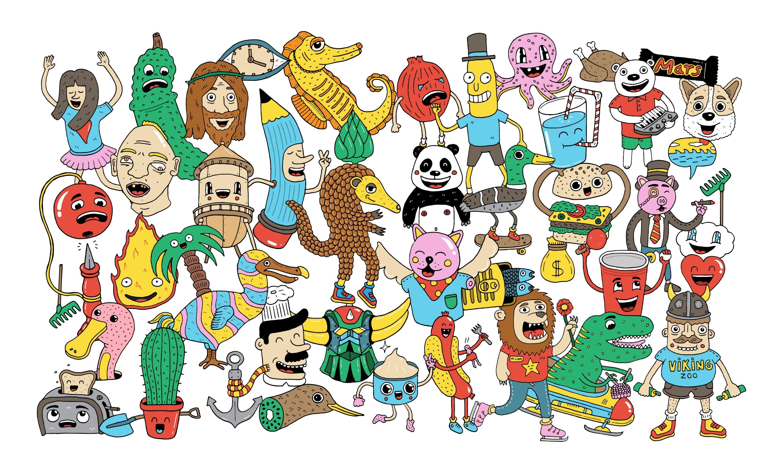 story messy colorful illustrati - douglascavanna | ello