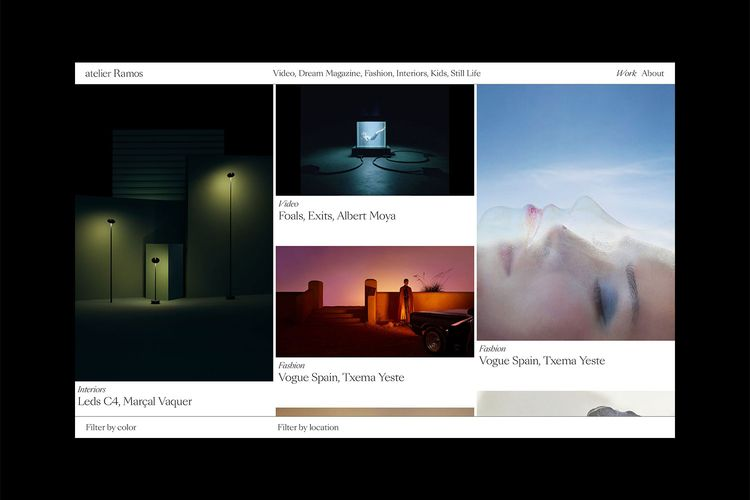 Website Atelier Ramos designed  - northeastco | ello