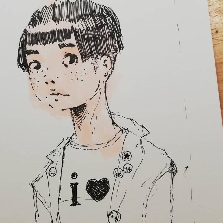 Sketch - uniball, sketch, drawing - diegogabriele | ello