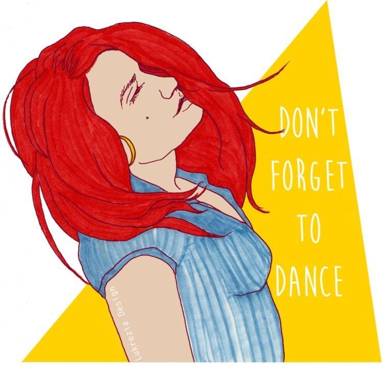 forget dance - illustration, graphic - lukrezia_yells_like_hell | ello