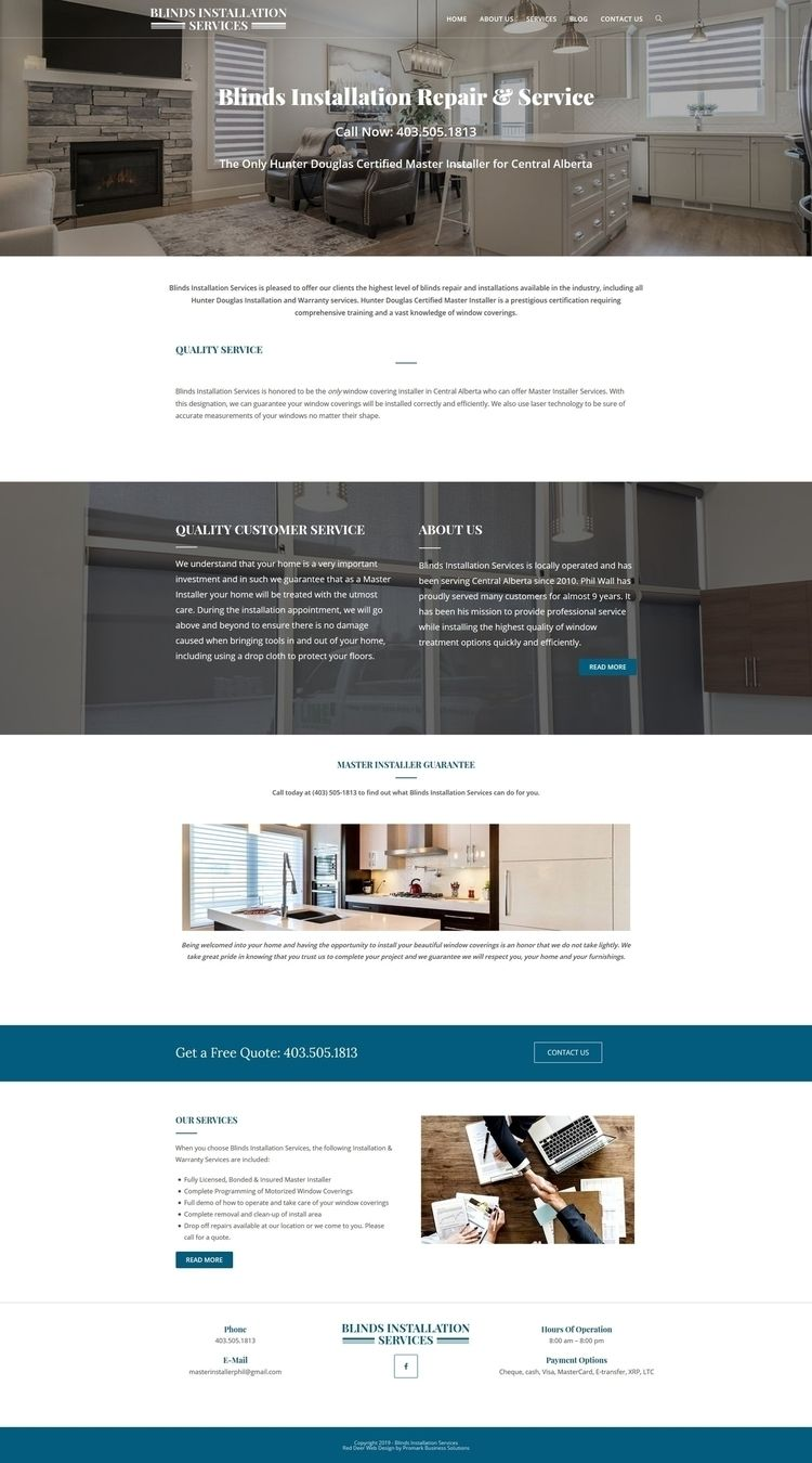 Blinds Installation Website Web - promarkbusinesssolutions | ello