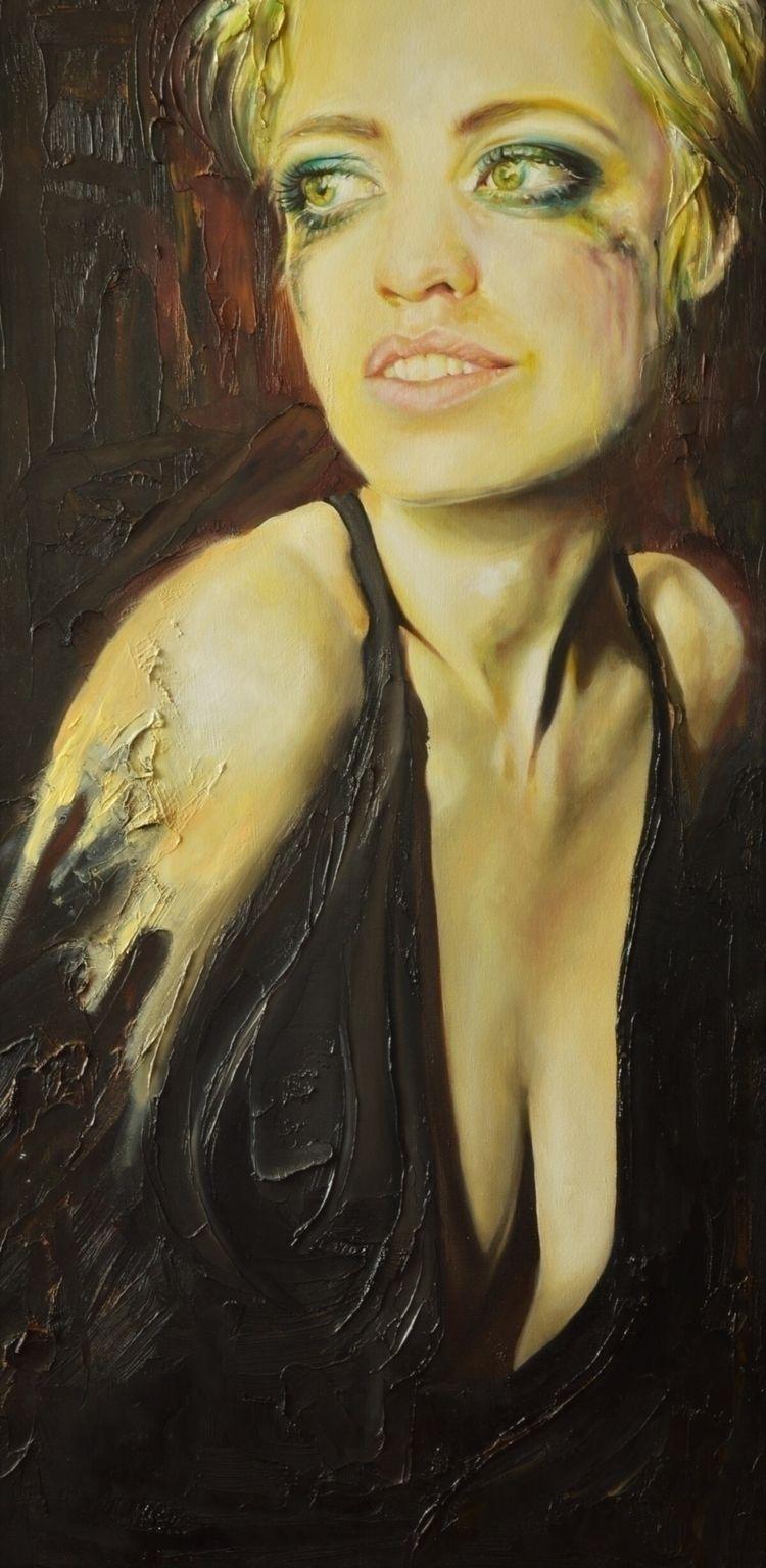 Sad. Oil linnen. 80*50 cm - painting - vanthuisuit   ello