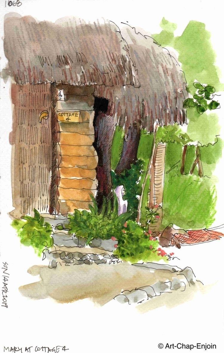 1068 - Mary cottage 4 sketch Mo - artchapenjoin | ello