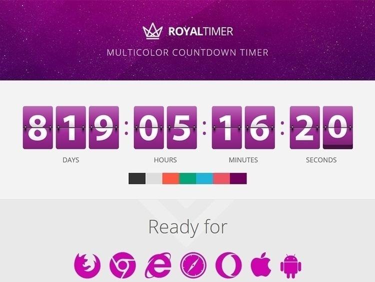 RoyalTimer Multicolor Countdown - flashblue | ello