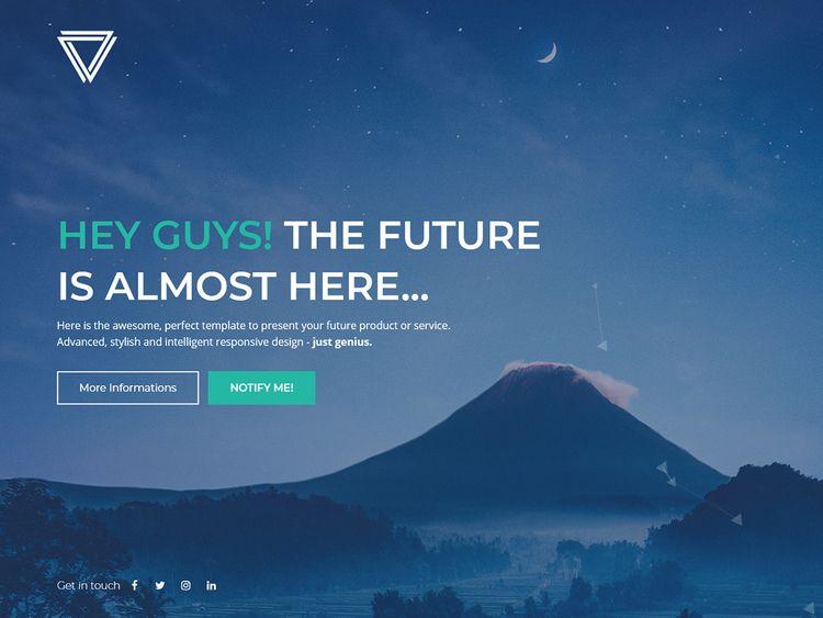 Elysium Responsive Coming Templ - flashblue | ello