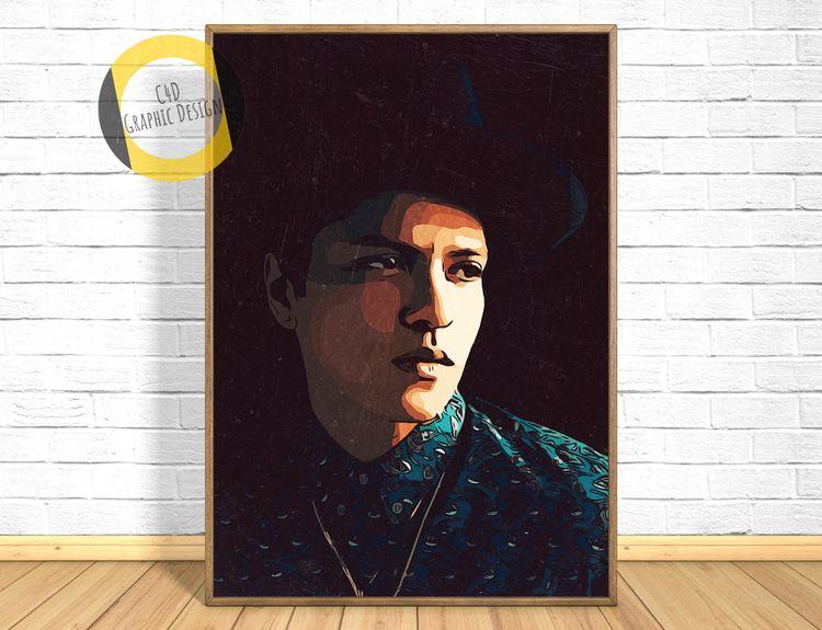 Bruno Mars Print,Bruno Poster,B - c4dgraphic | ello