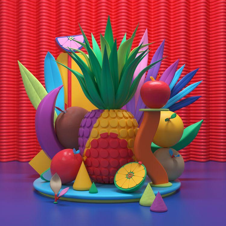 fruit, ello, design, digitalart - cadenascarlo   ello