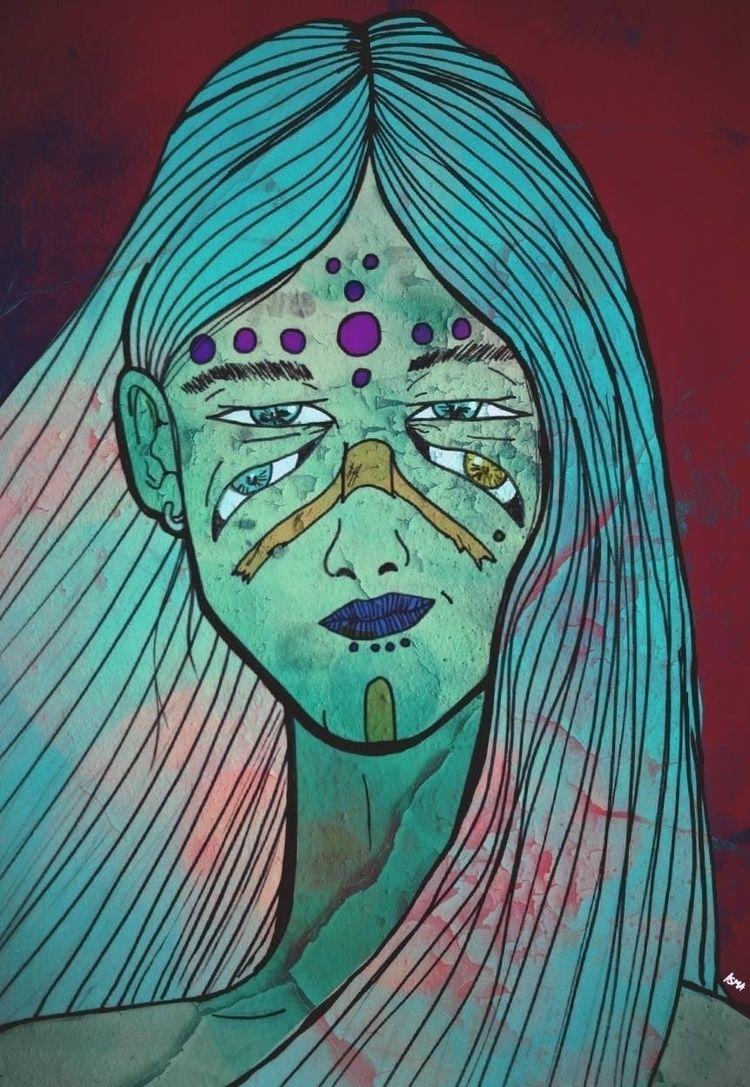 Calipso - eyes, drawing, pupilas - ismaperic   ello