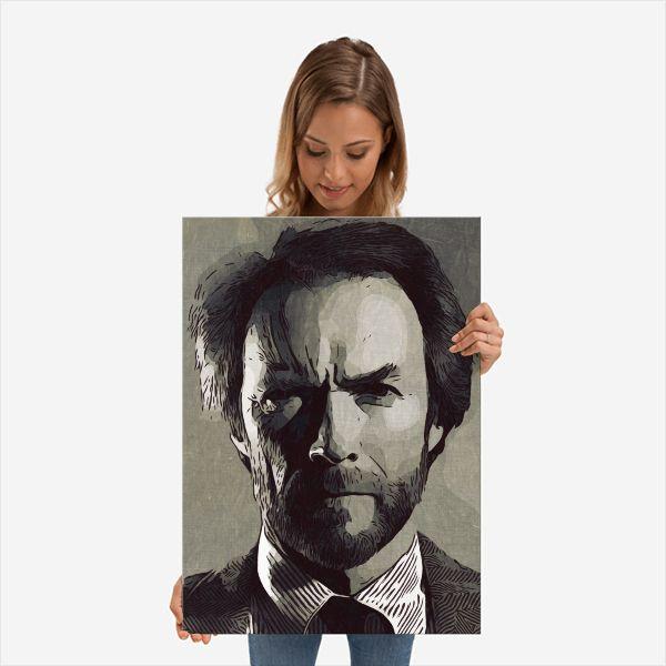 Clint Eastwood Print,Clint Post - c4dgraphic   ello