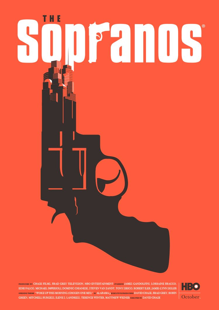 Sopranos - Poster - poster, illustration - federicogastaldi | ello