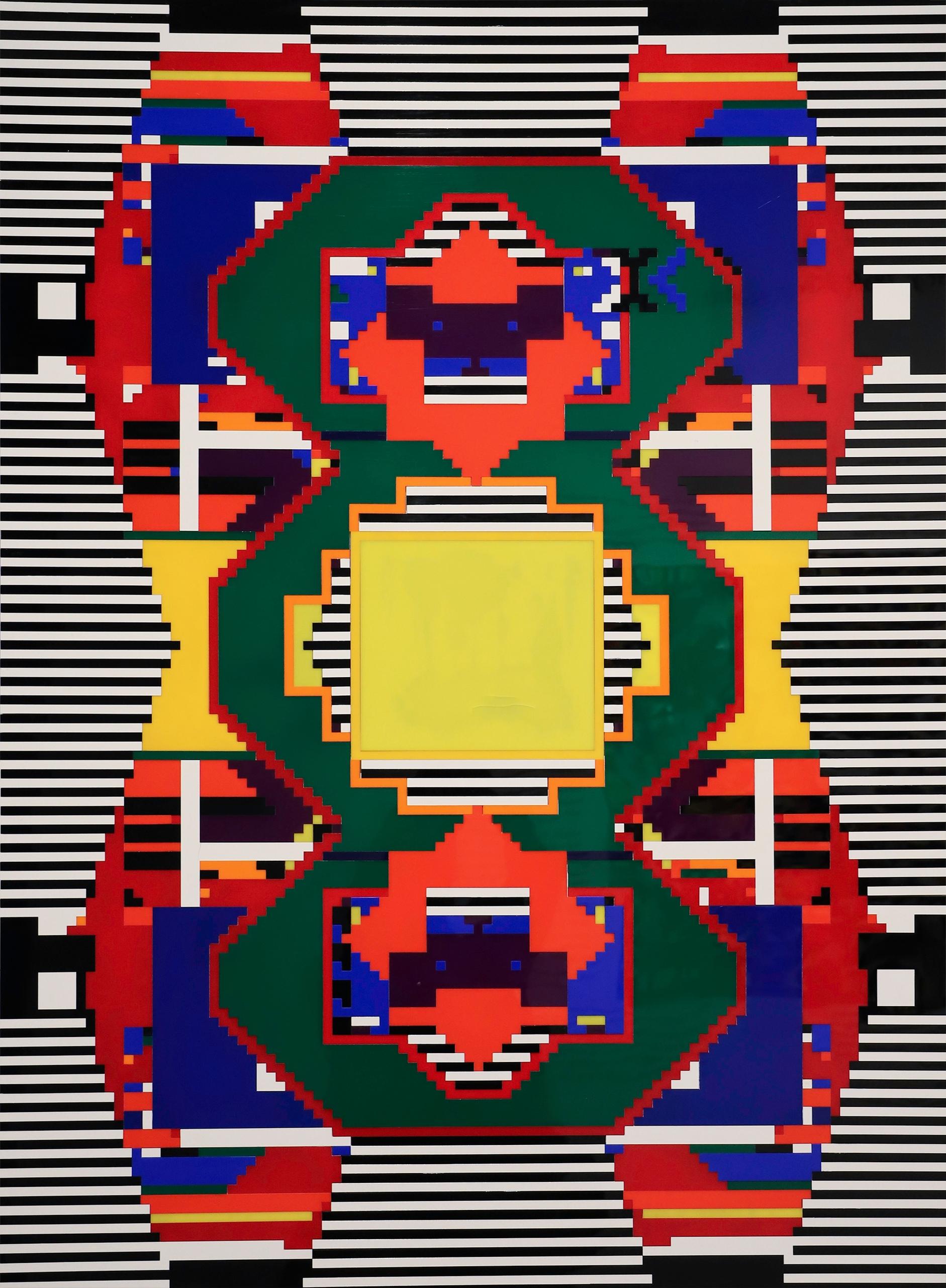 Zdjęcie przedstawia kolorowe graficzne kształty.