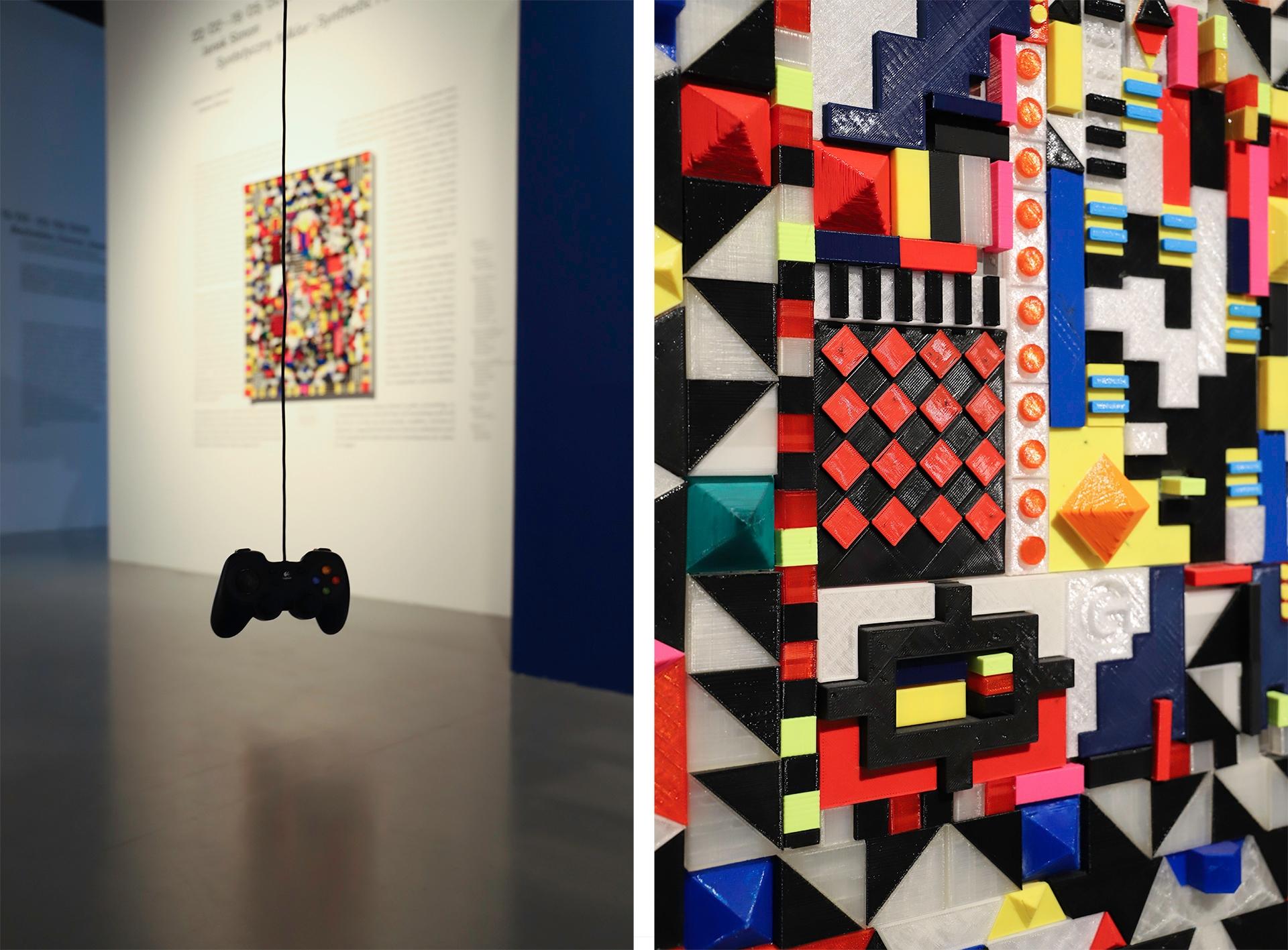 Obraz przedstawia dwa zdjęcia, na których widzimy wnętrze galerii sztuki i obrazy.