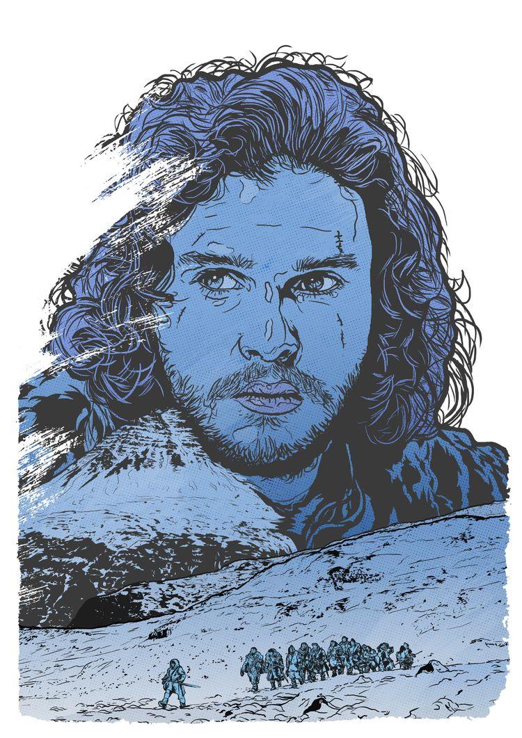 Jon Snow - Version 2 - illustration - justblack | ello