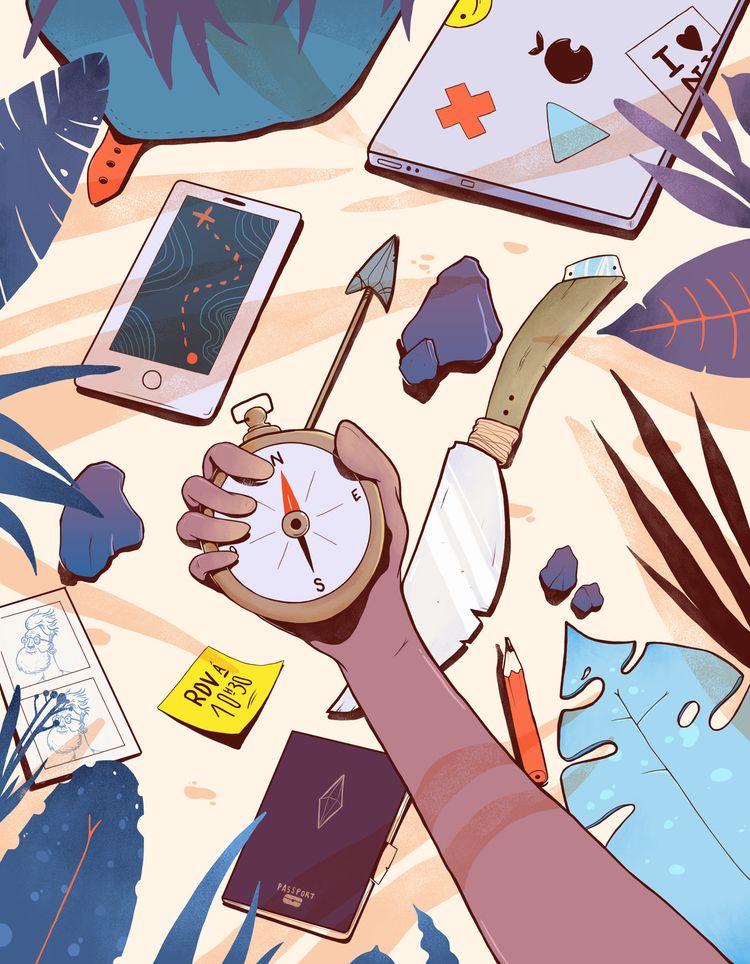 Freelance Adventure - illustration - paykhan   ello