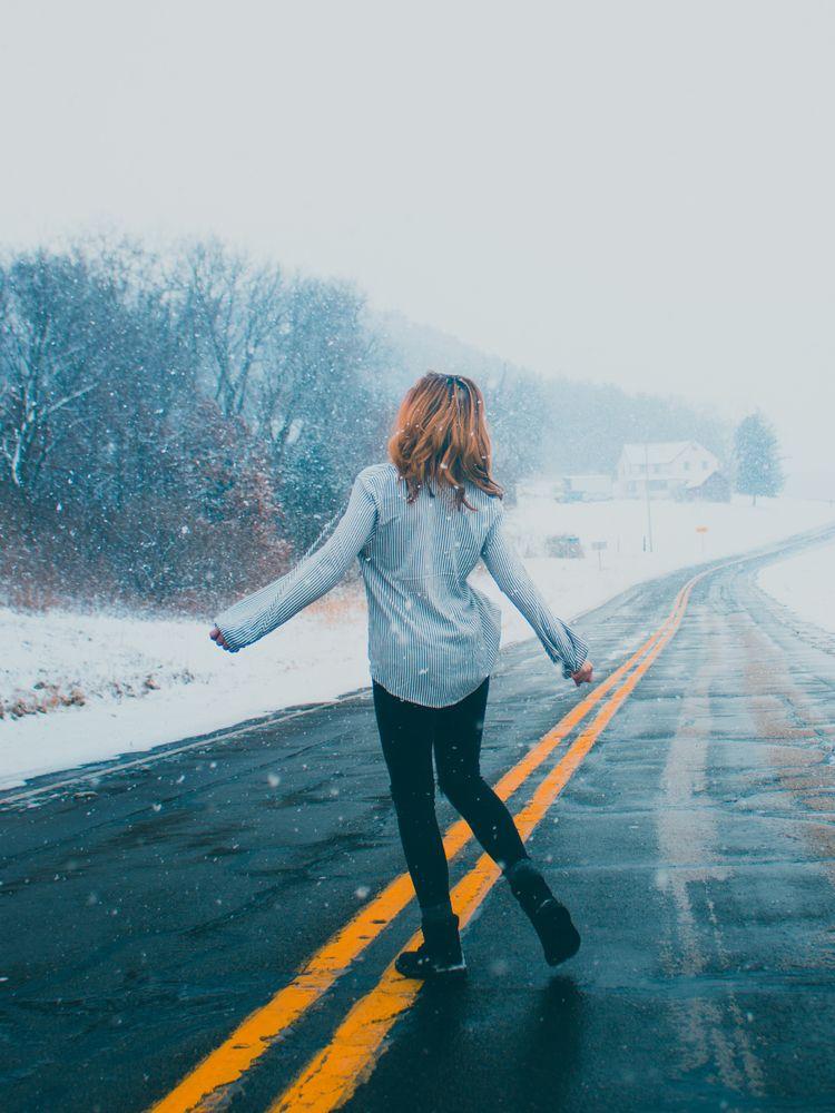 Country Roads - photography, snowphotography - ijyoyo   ello