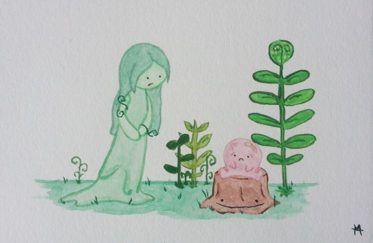 Green forest princess checking  - mansfieldnstuff | ello