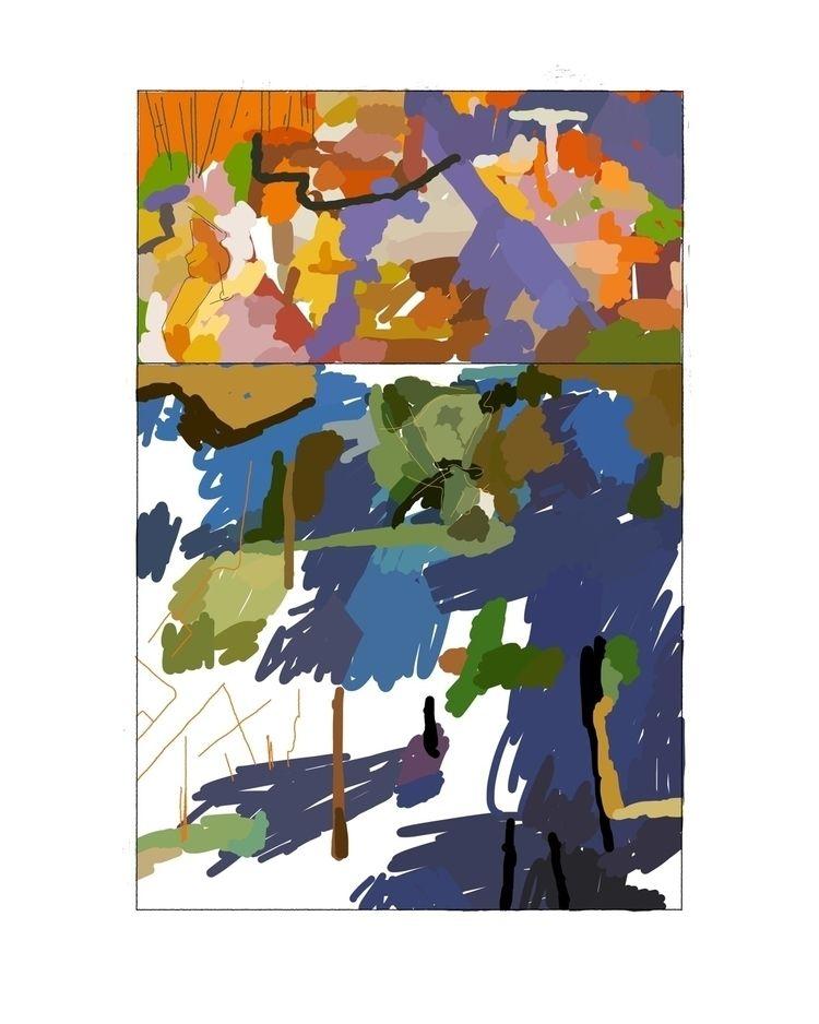 square - abstractcomics, digitalpaintings - guillermogineste | ello