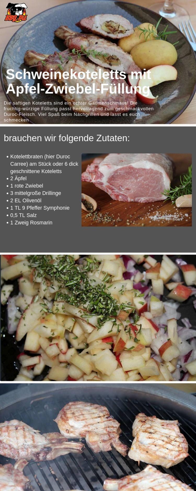 Schweinekoteletts mit Apfel-Zwi - bbqpitde | ello