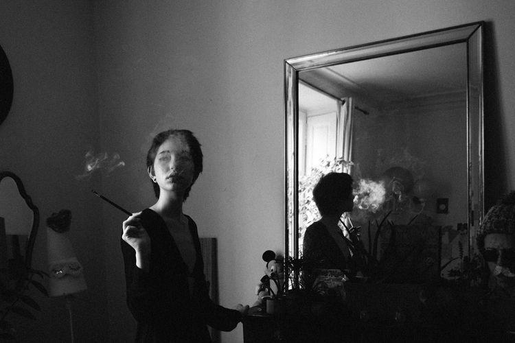 Eileen Wisteria Smoke - blackwhitephotography - wasally | ello