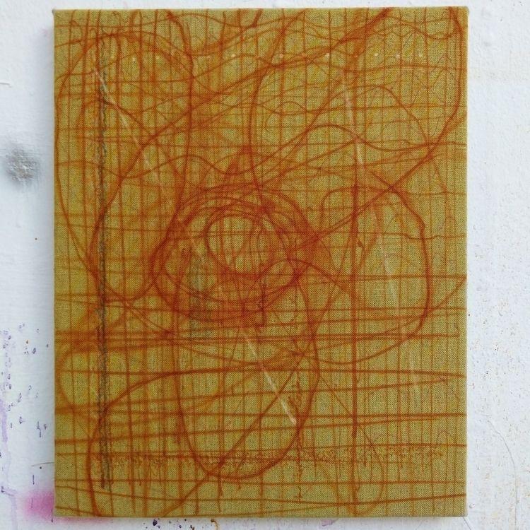 studio - painting, canvas#contemporaryart#abstractart#modernart#contemporarypainting - mikkelorsted | ello