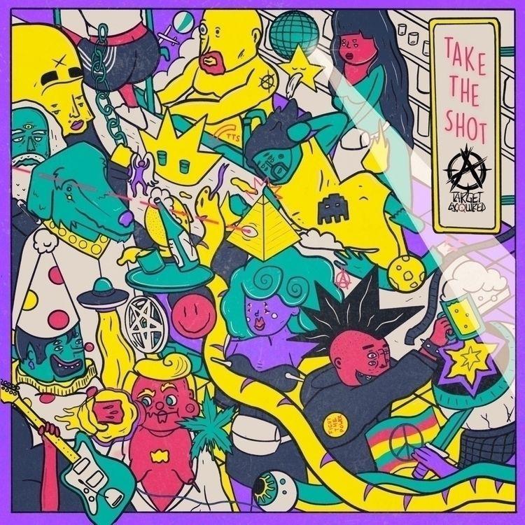 Albumcover Target Acquired - illustration - trippiesteff | ello