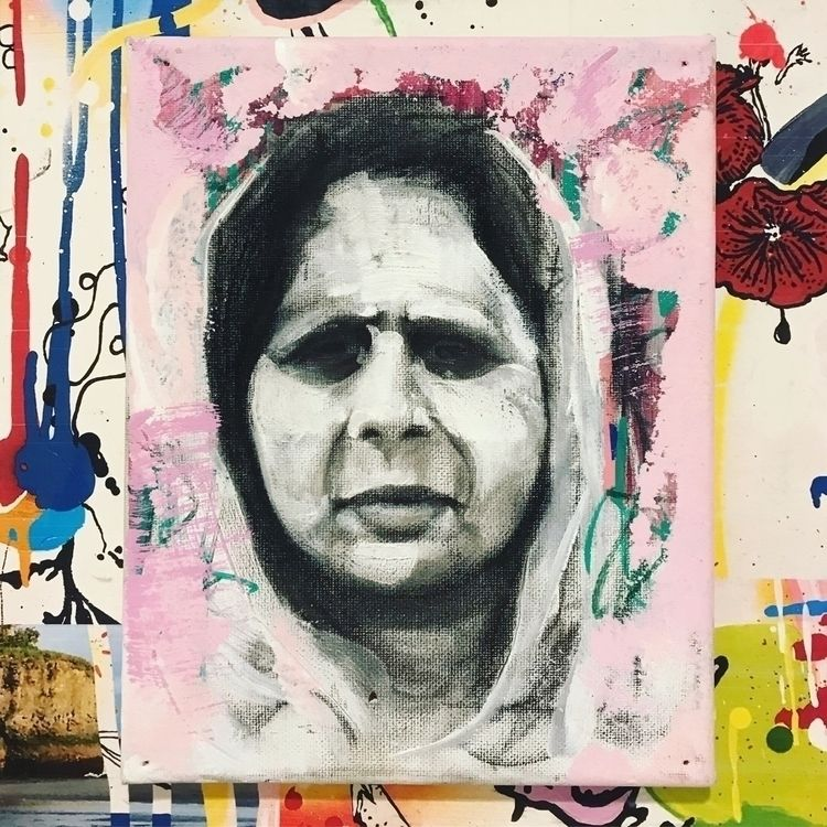 Fatima - charcoal, collage, drawing - slumlux | ello