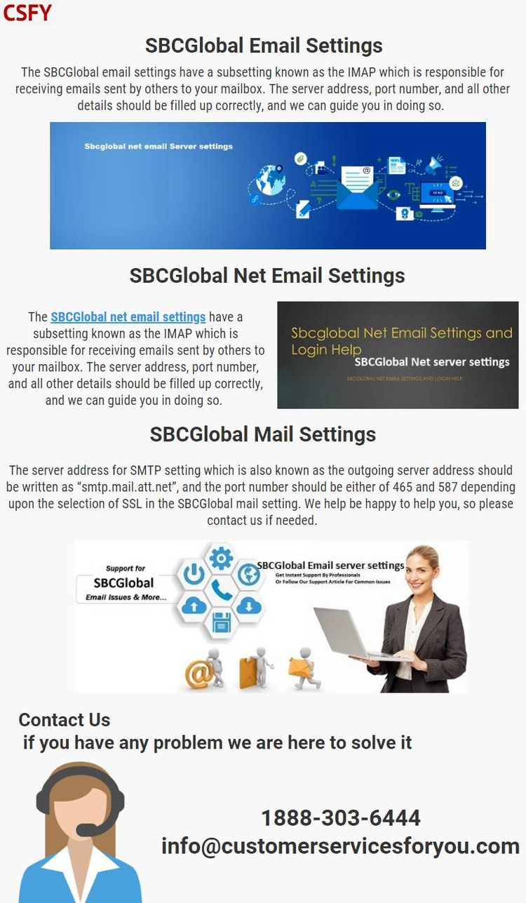 SBCGlobal email settings SMTP s - monicagellerseo | ello