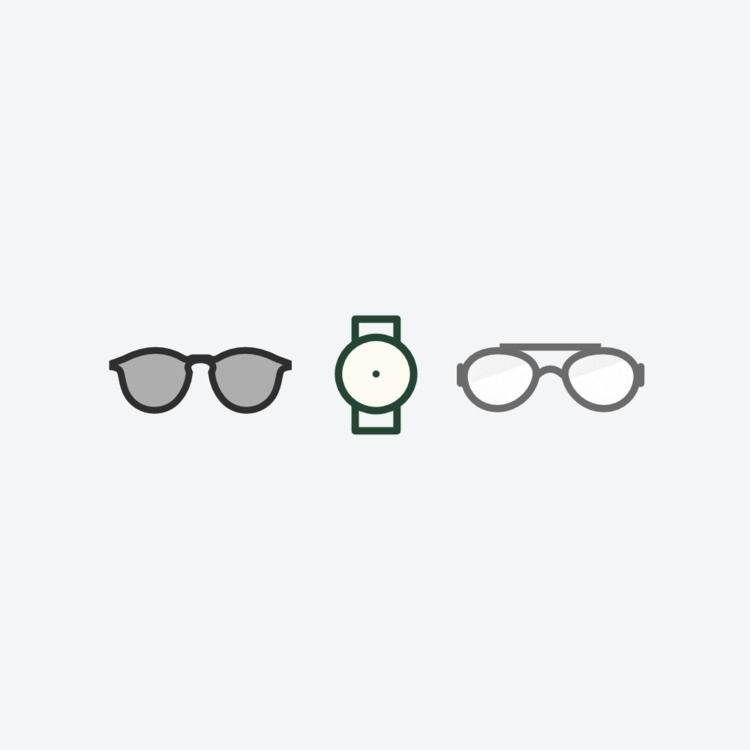 Minimal icons product catalog - sunglasses - pmjm | ello