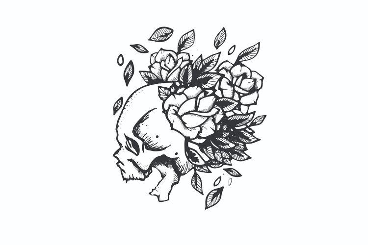 Beautiful Mind Dies - skull, dark - mattadesigns | ello