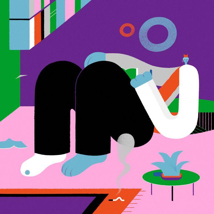 illustration, readingcorner, smoke - leandroalzate | ello