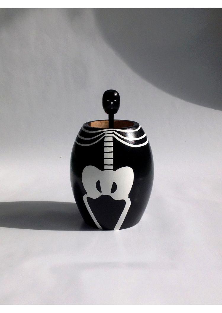 sale ! skeleton wooden cup maho - tobingdewi | ello