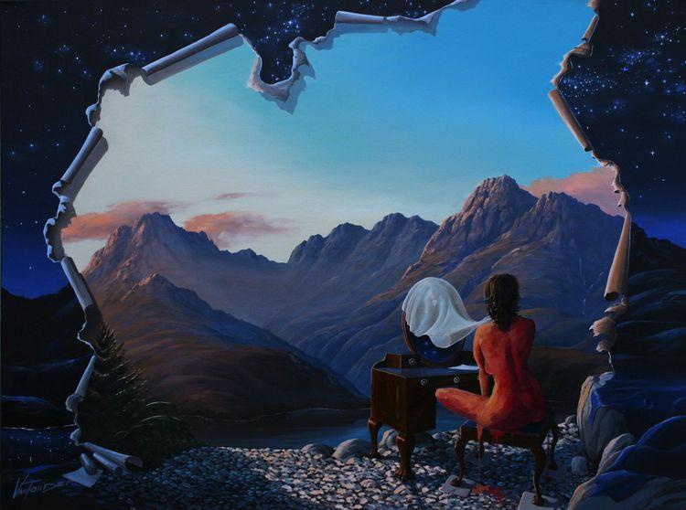 Blue Hour' - Oil canvas | Size - artist_pietervantonder | ello