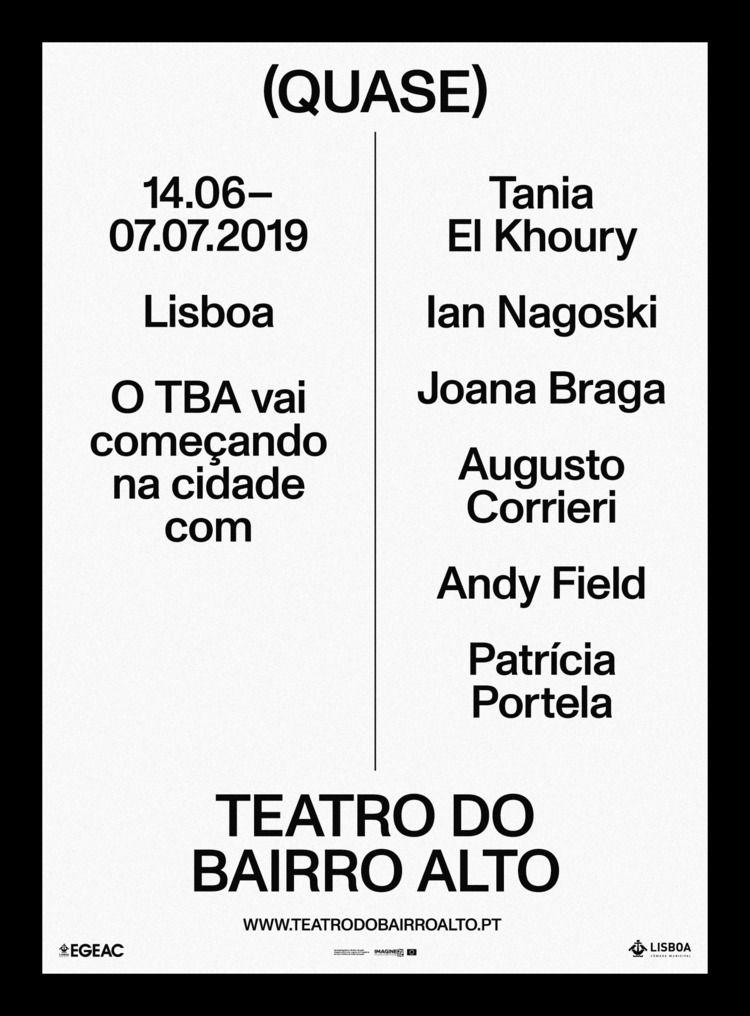 Poster (Quase) Teatro Bairro Al - nonverbalclub | ello