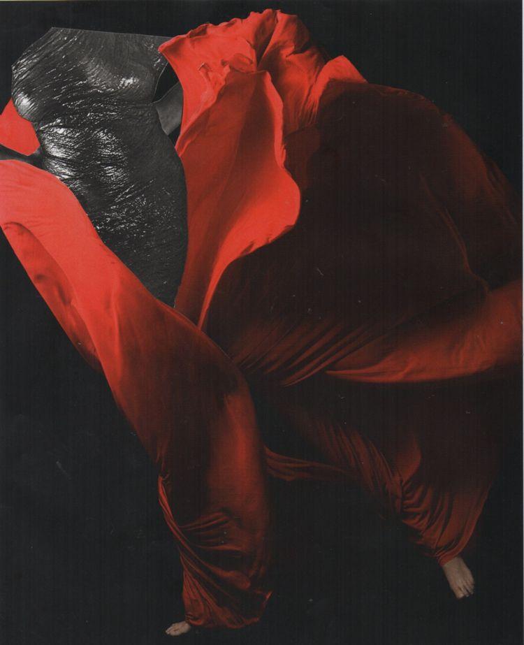 Wet Silk - collage 5.29.2019 - manray - deborahstevensonartist | ello