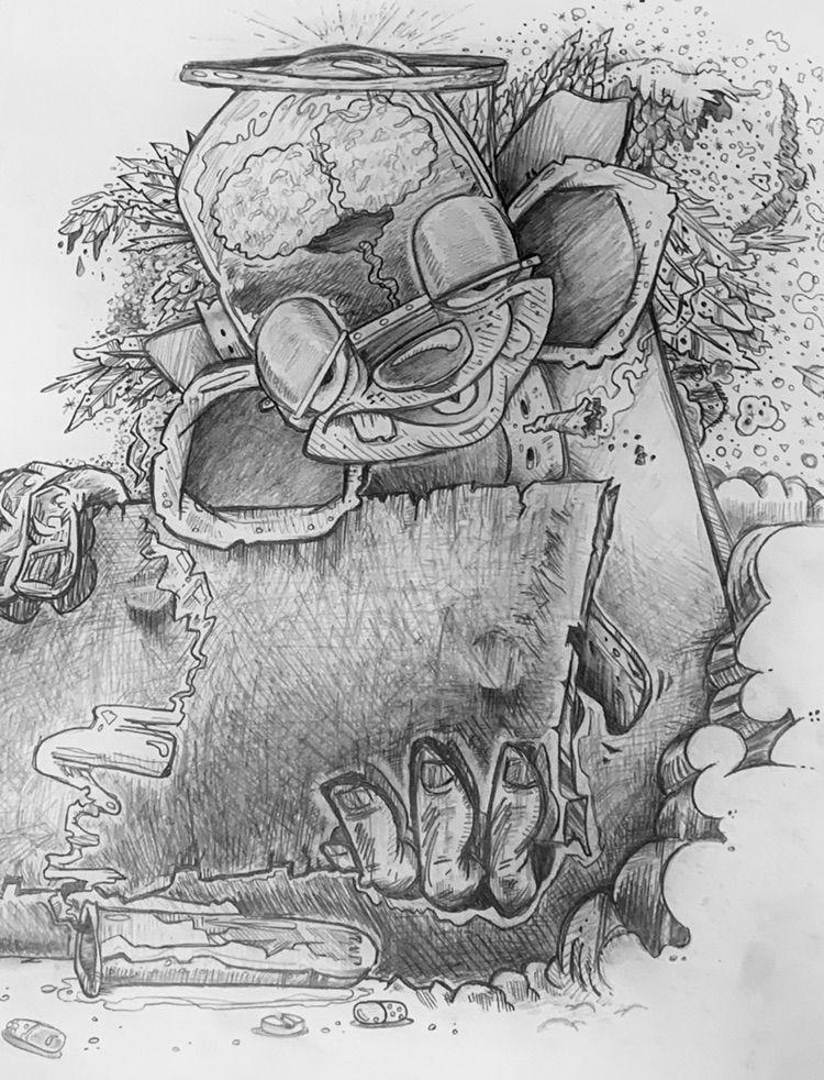 Pencil sketch - pointnoirpdx   ello