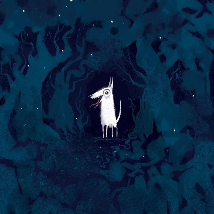 Dog Lite - dog, forest, creepy, spooky - timothybanks | ello