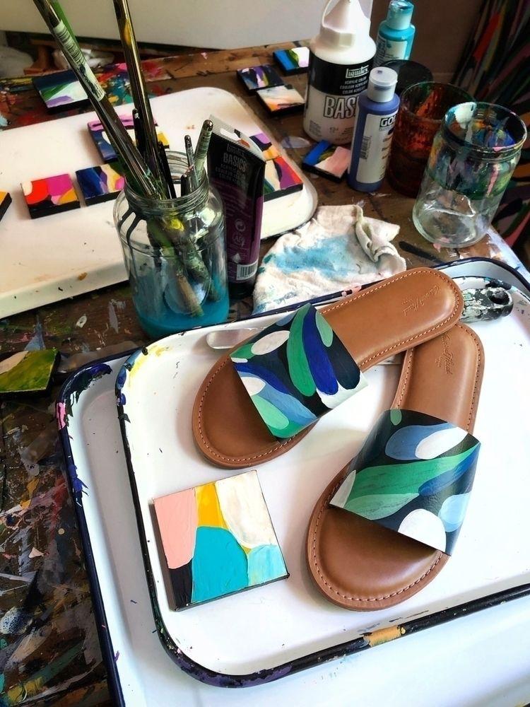 Custom shoe painting live store - angietherose   ello