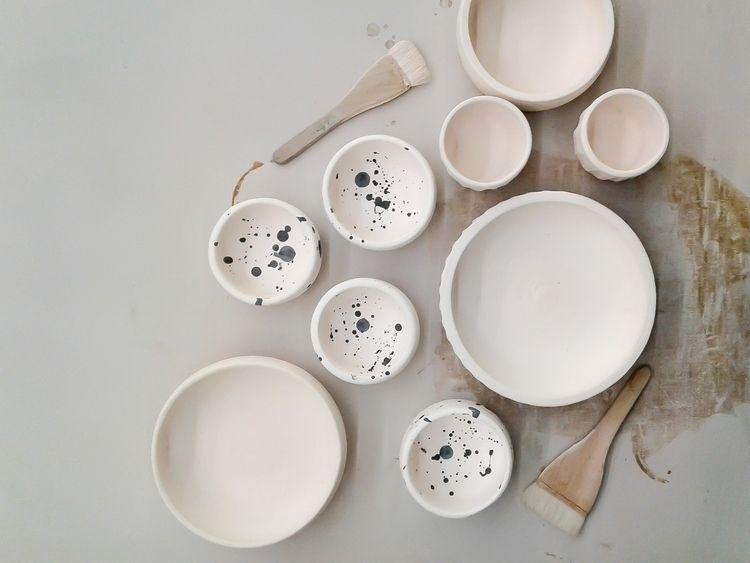 Bisqued bowls ready glaze - plantvessel | ello