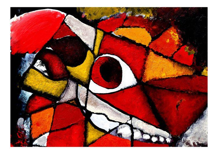 Dartmoor Pony skull abstract Pa - peterandrew   ello