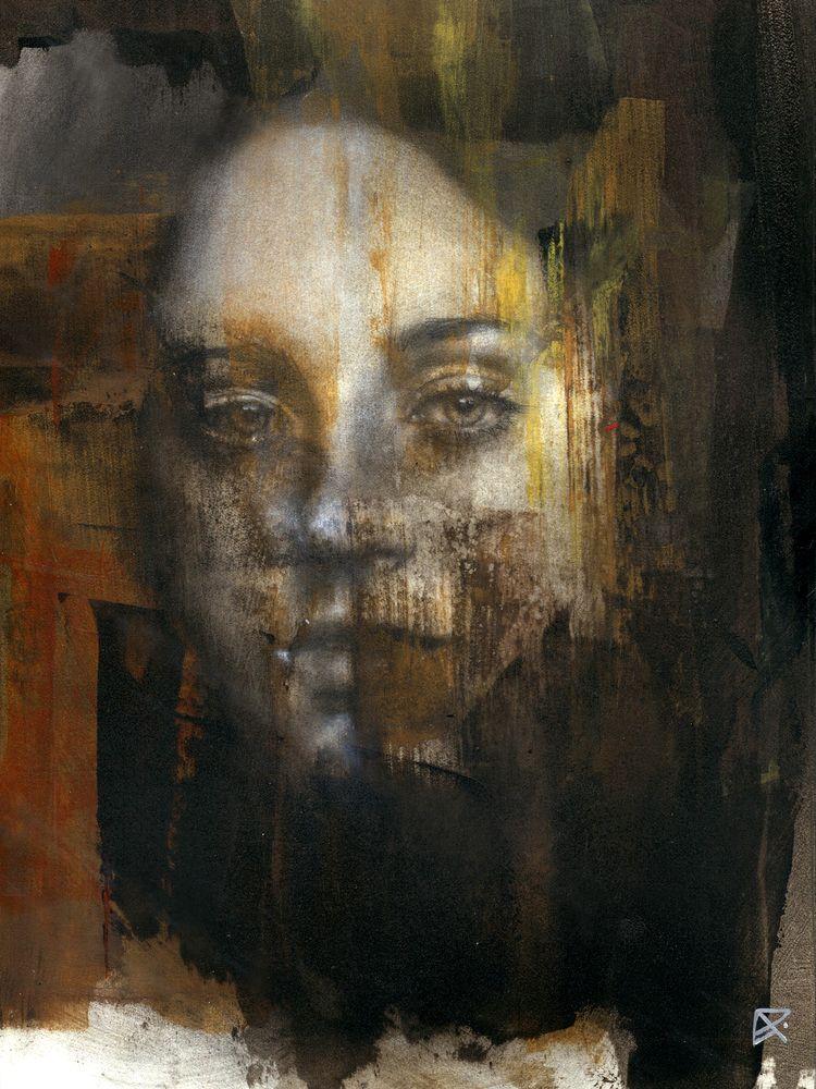 Acrylic, charcoal, pastel paper - patriciaariel | ello