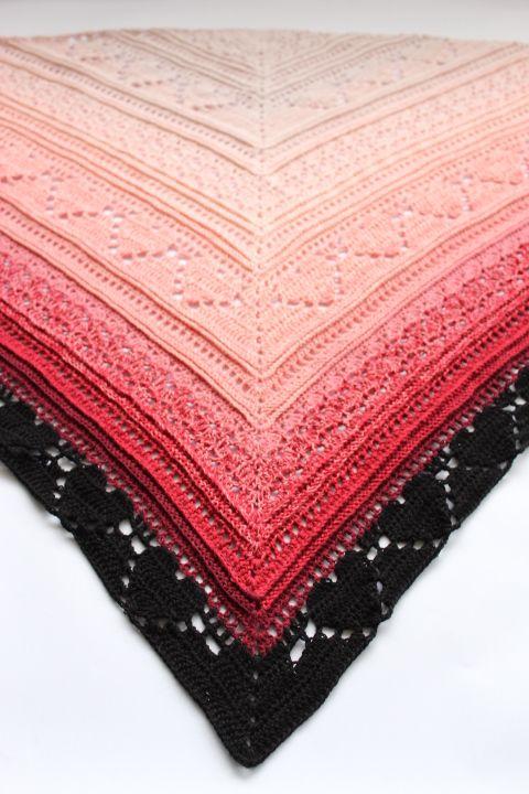 Bumpy road love shawl pattern R - addicted2thehook | ello