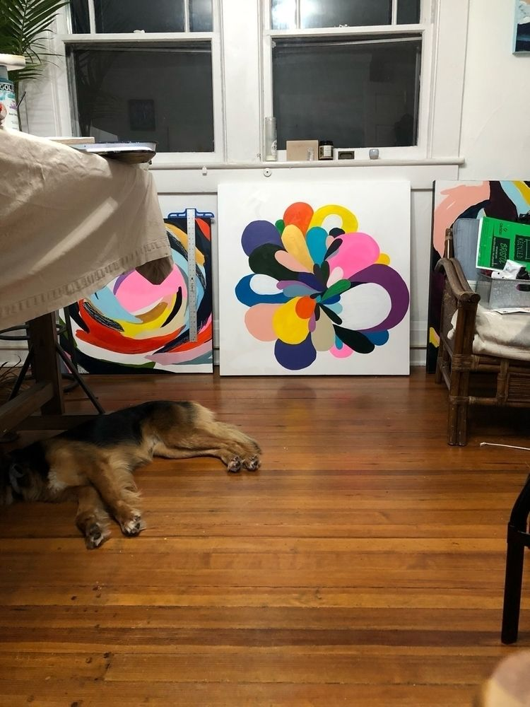 pupper hanging home studio - angietherose   ello