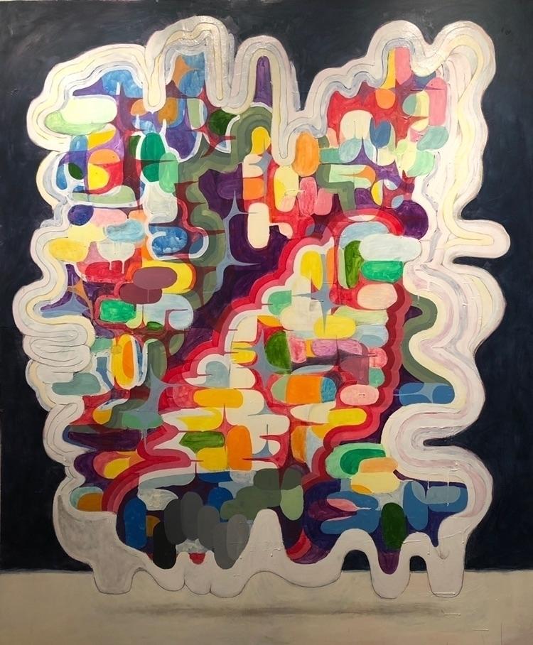 untitled. Acrylic wood panel. 6 - synd3tic | ello