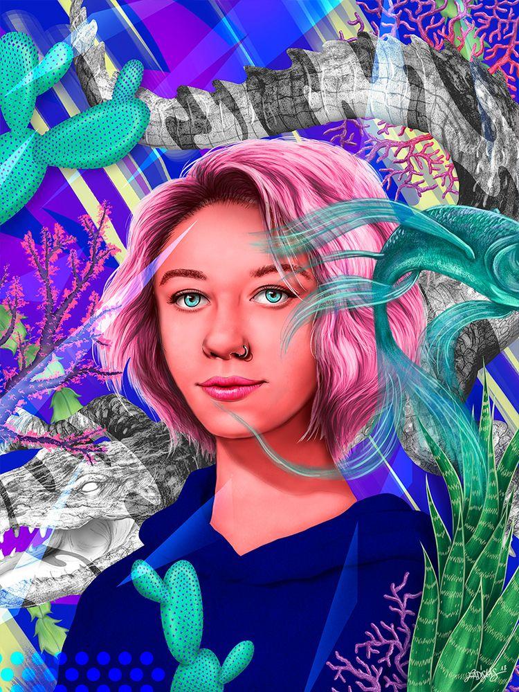 Portrait Crocodile - part creat - la10las   ello