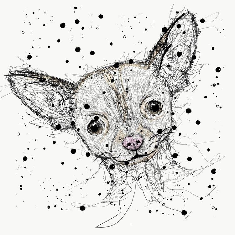 Ohhh Chihuahua - scribble, doglovers - lmona   ello