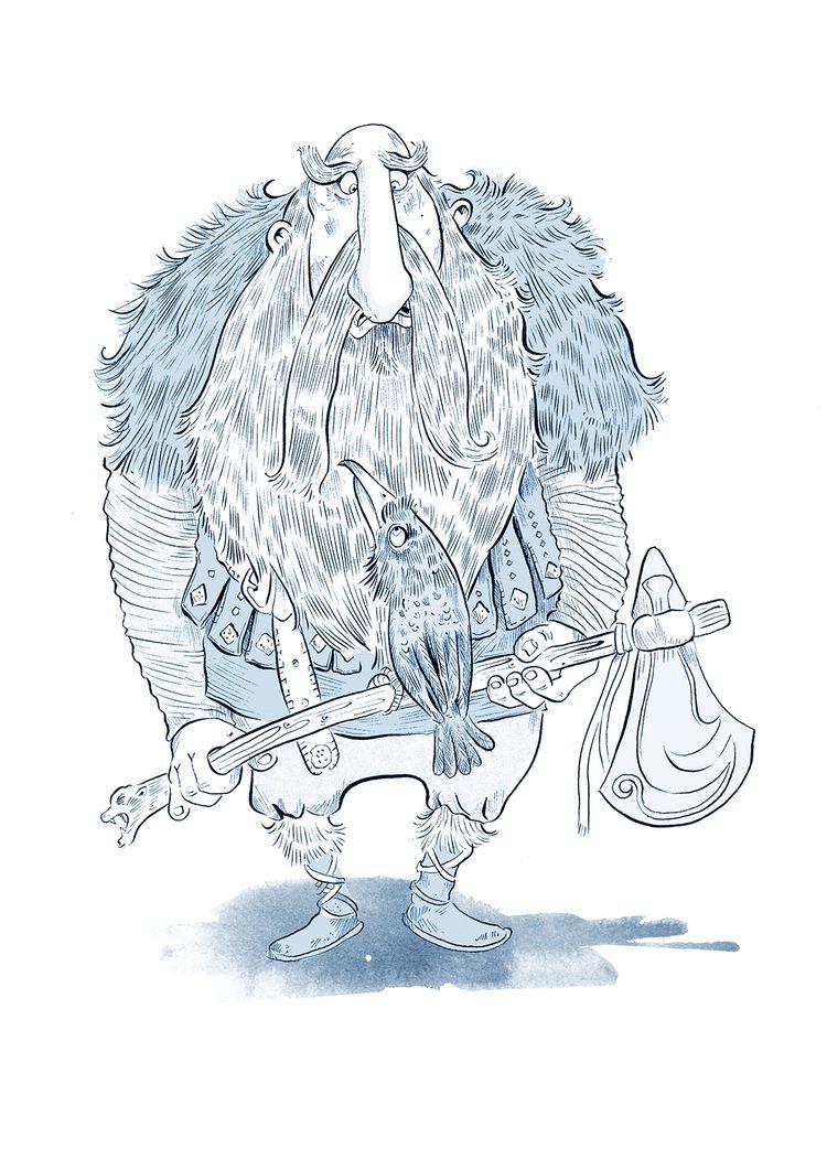 Viking - illustration, cartoon, humour - yellowstonestudio | ello