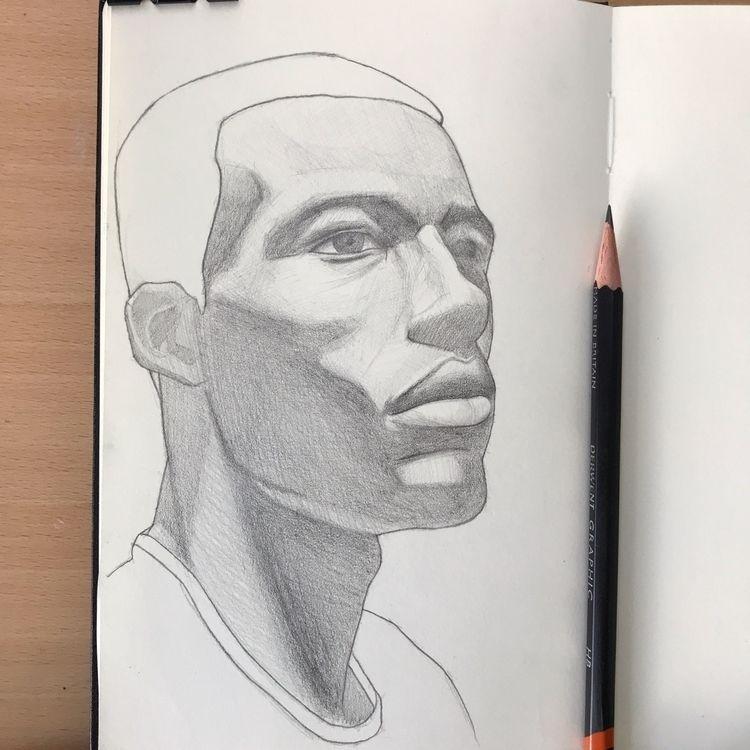 Graphite Moleskine - drawing, portrait - mariosupa | ello