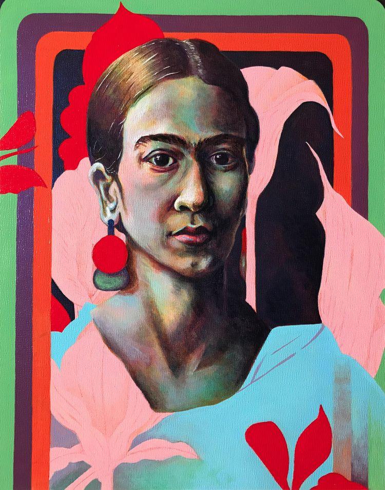 Calla Room, acrylic painting, F - gritangelarts | ello