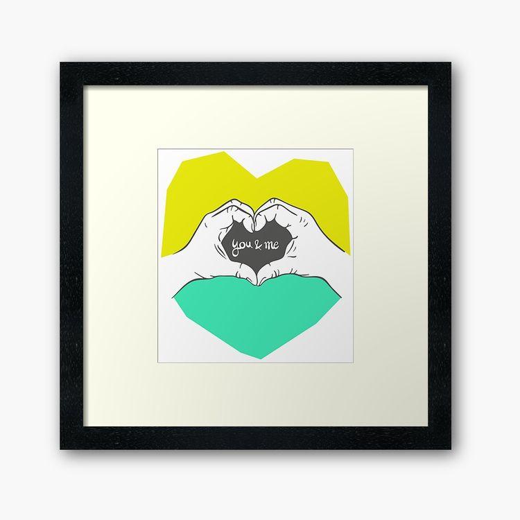love Illustration art print mat - almarlene | ello