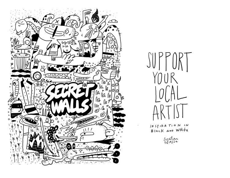 Hola Secret Walls Mi nombre es  - pegatinacriolla | ello